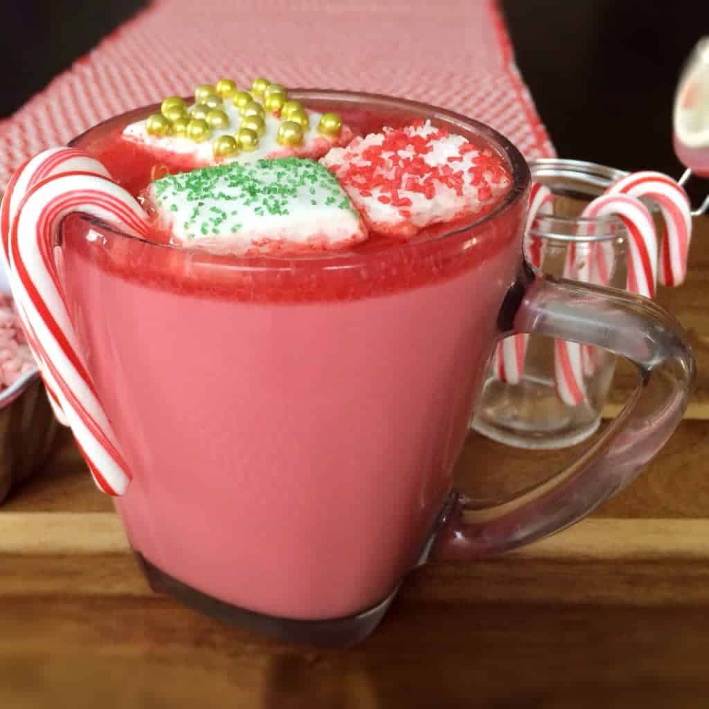 peppermint hotChata. tipsy hot chocolate drink made with rumchata in a CROCK POT. best drink ever.