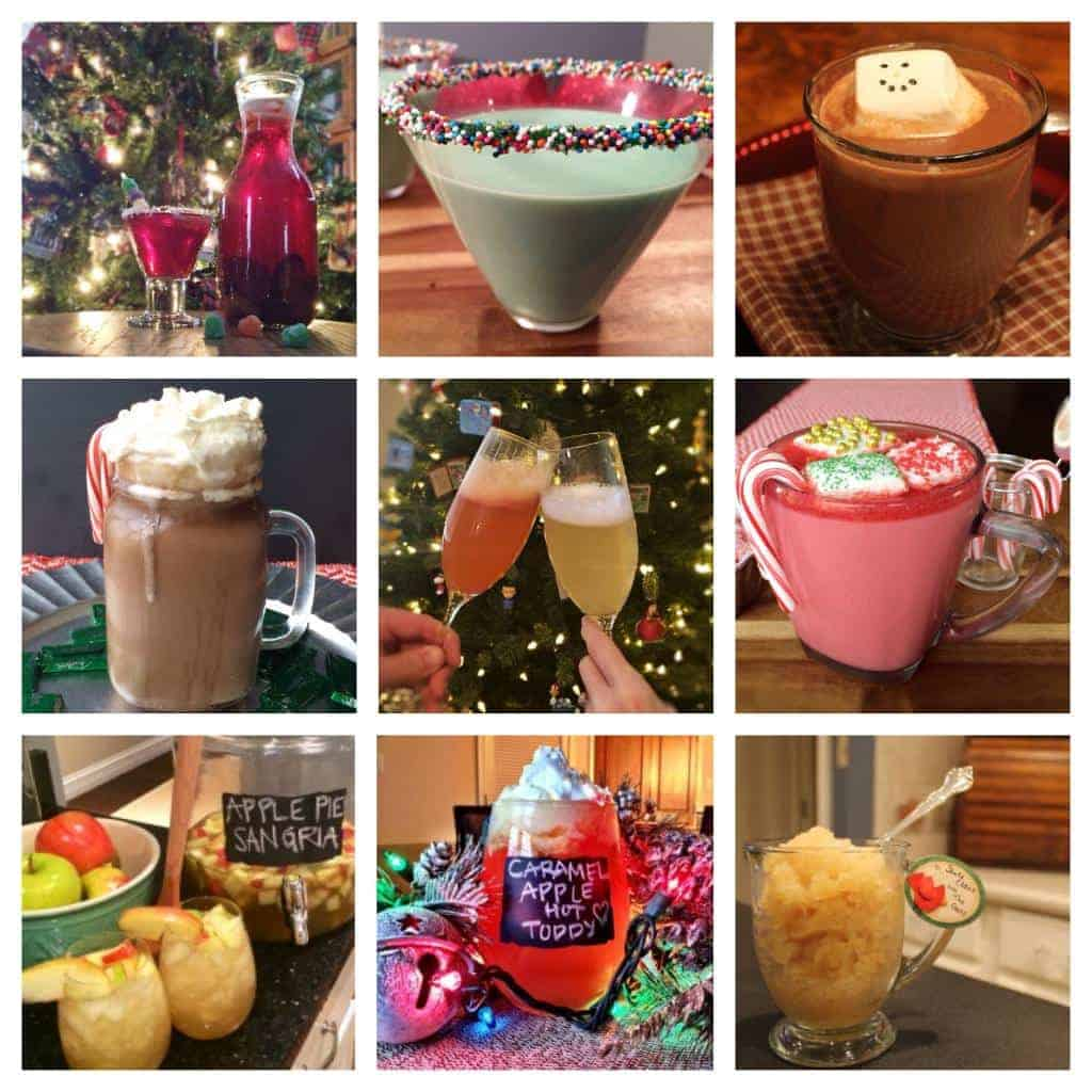 the top 9 Christmas cocktails to make for your holiday! these are ALL easy and delicious!