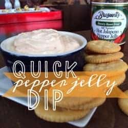 pepper jelly dip and crackers