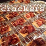 bacon wrapped crackers