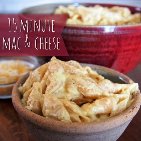 15 minute mac & cheese
