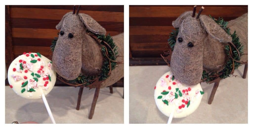 white chocolate lollipops for Christmas! adorable and delicious.