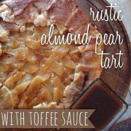 rustic almond pear tart