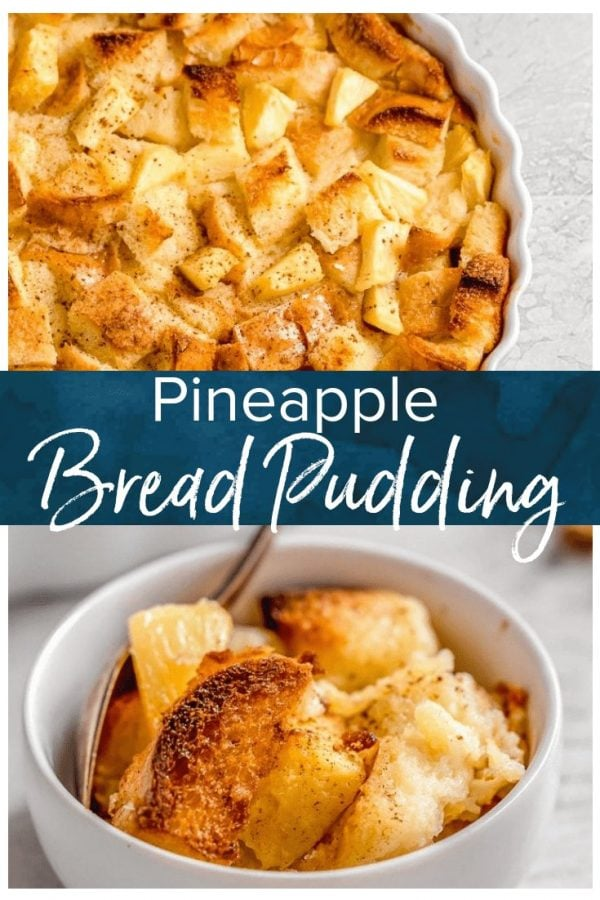Pineapple Bread Pudding is a simple and delicious dish that is just perfect for Christmas. It works as both a side dish and a dessert, meaning you have plenty of reasons to eat it. The texture and flavor of this easy pineapple dessert is so good! It's fluffy, sweet, and the cinnamon on top is the perfect addition.
