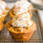 Apple Pie Cupcakes are one of the most delicious, EASY recipes on The Cookie Rookie. Apple Pie filling is stuffed into a pre-made cinnamon roll base to create the ultimate EASY Caramel Apple Cupcakes. This Cinnamon Roll Apple Pie Cupcakes Recipe has been a winner at our house, especially for Summer and Fall!