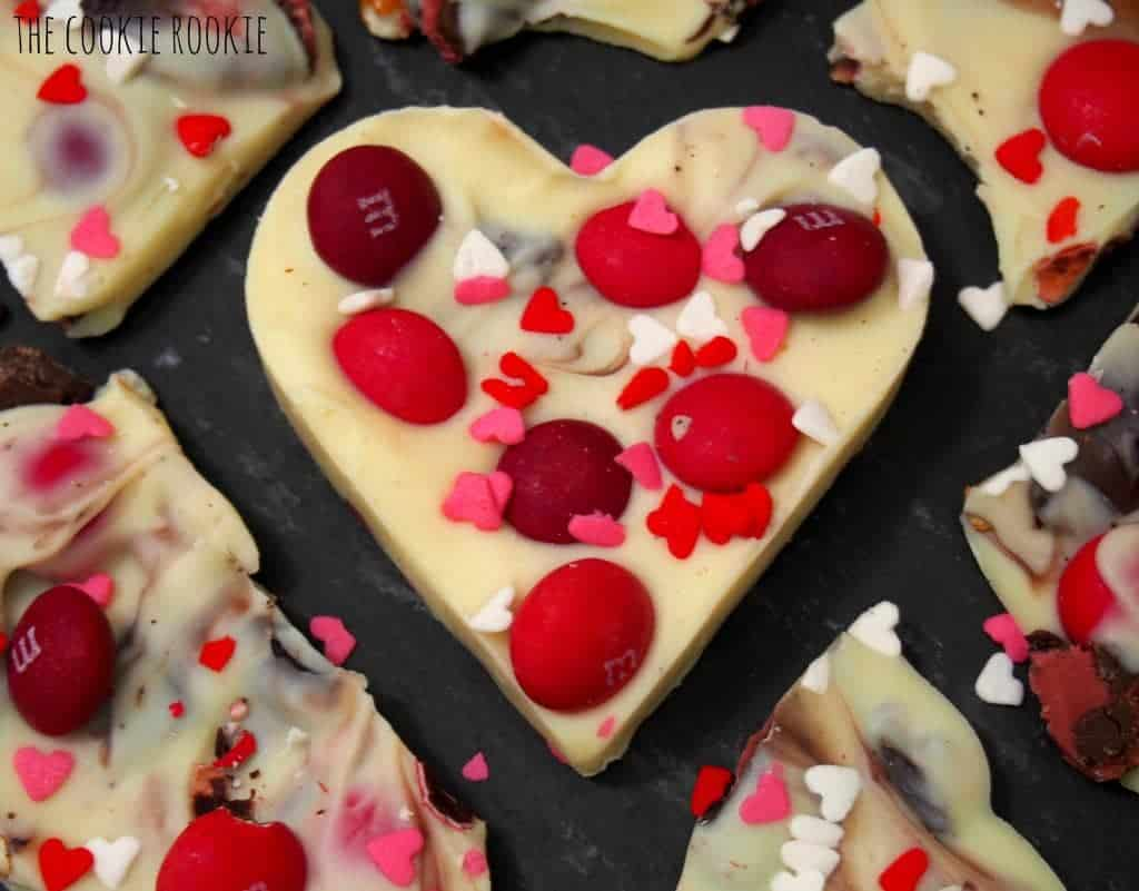 white chocolate valentine's bark! a fun, delicious, and EASY holiday treat!