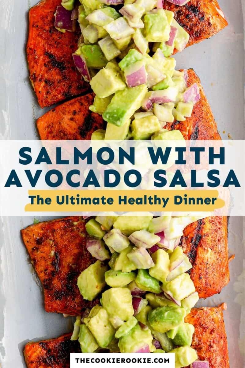 salmon with avocado salsa pinterest