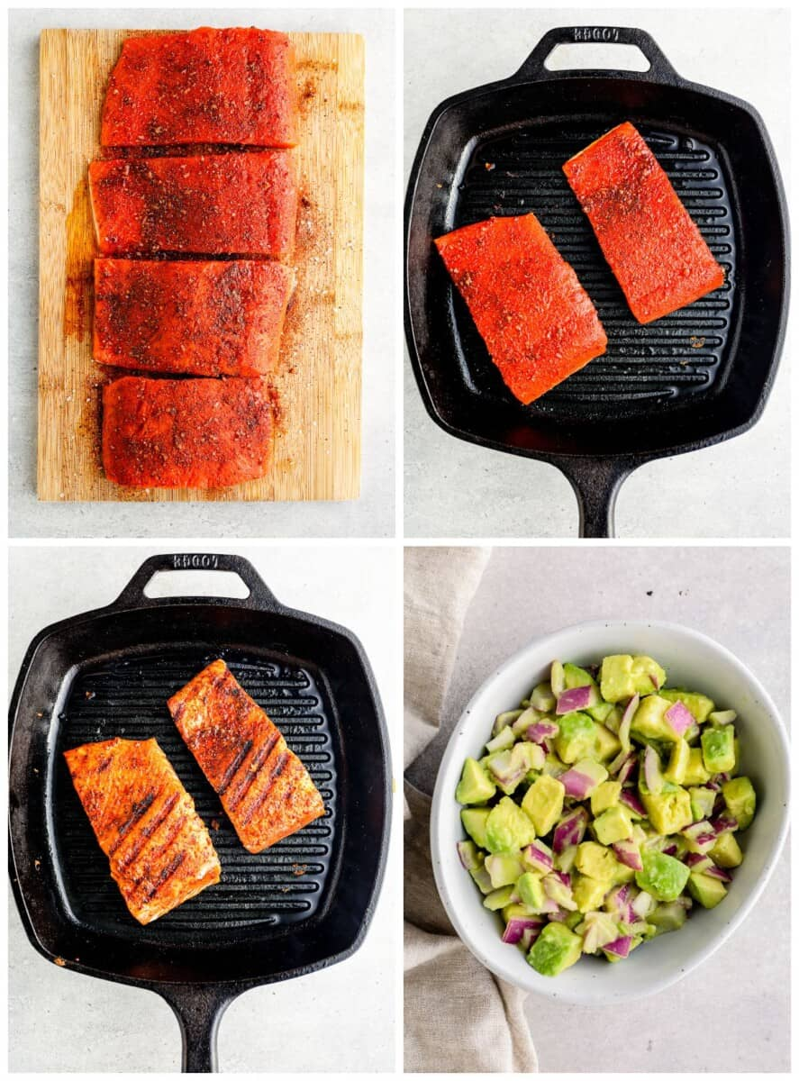 how to make grilled salmon with avocado salsa