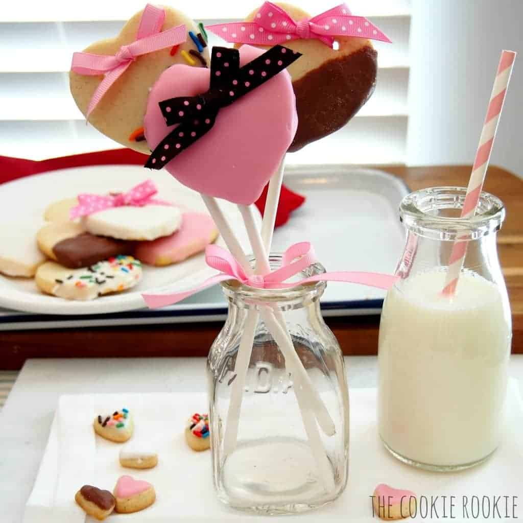 sweet heart butter cookies for valentines day. these are the BEST cookies, great recipe.
