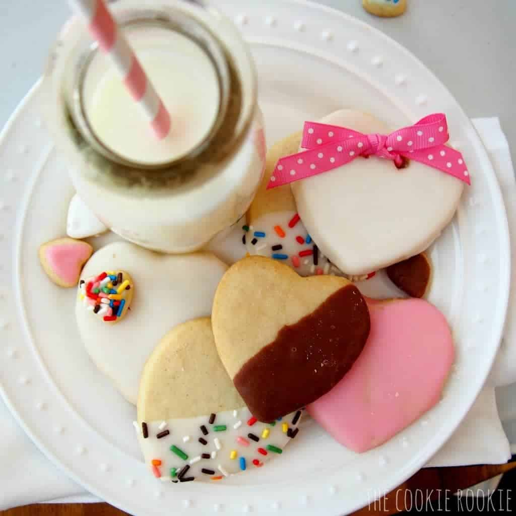 Iced Valentine's Day Cookies
