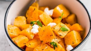 Baked Butternut Squash Recipe with Maple Glaze
