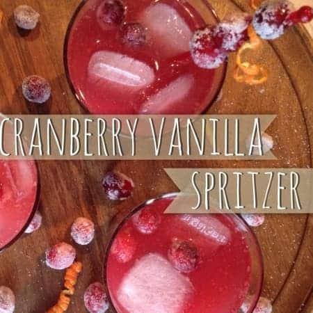 Cranberry Vanilla Spritzer