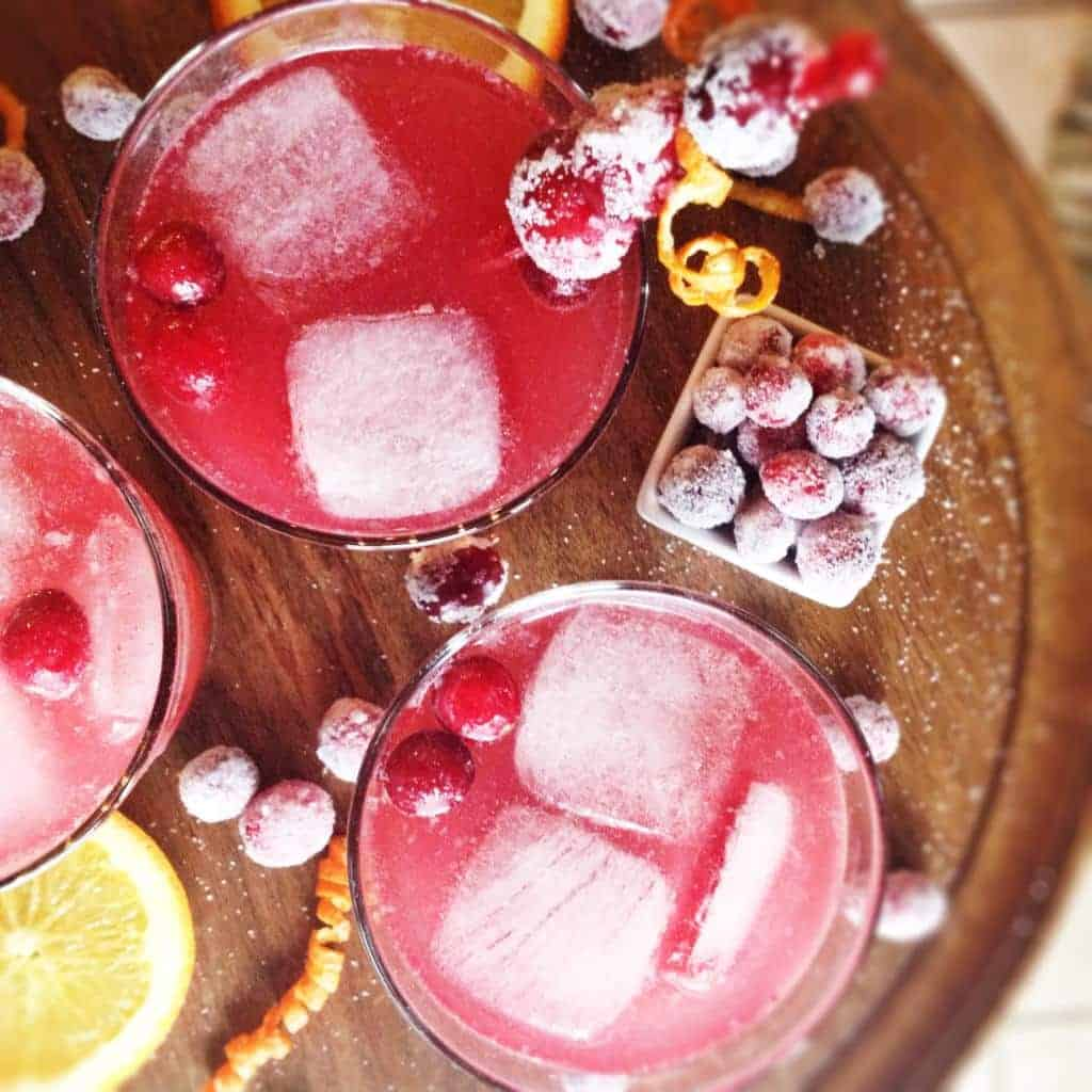 CRANBERRY VANILLA SPRITZER...tart cranberry, fresh orange, and cozy ...