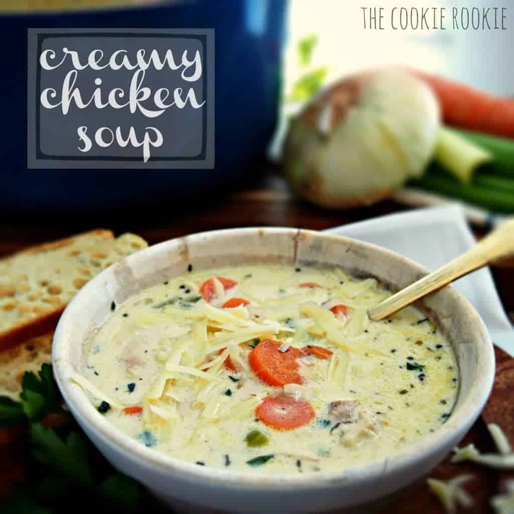 ... BEST soup on the planet. no contest. mom's creamy chicken soup