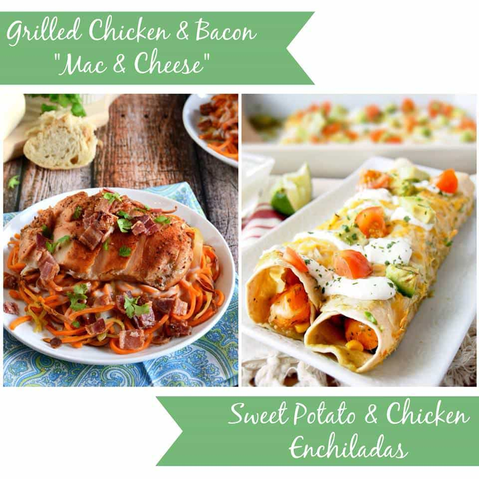 "Two great recipes using SWEET POTATOES! Sweet Potato ""Mac & Cheese"" and Sweet Potato and Chicken Enchiladas!"