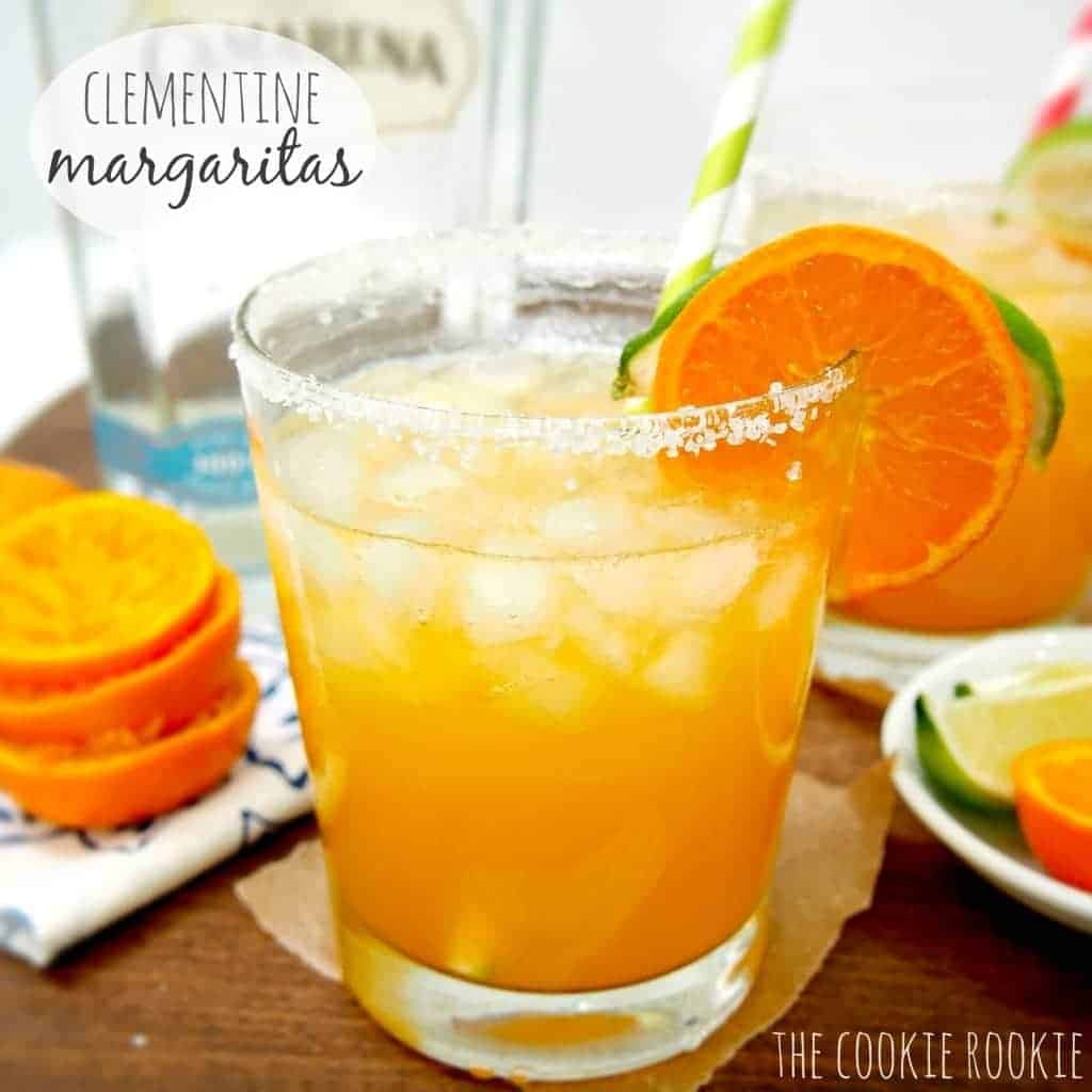 CLEMENTINE MARGARITAS! these are my FAVORITE. winters sweetest fruit makes a mean margarita!