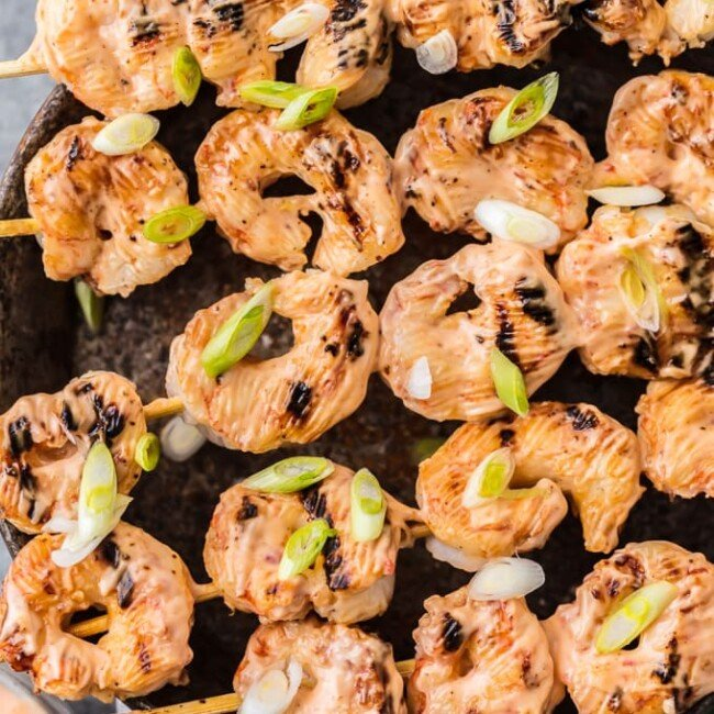 This SKINNY BANG BANG SHRIMP is loaded with flavor but low on calories! Delicious, easy, and crave worthy. This is a delicious appetizer or dinner the entire family will ask for again and again. It will be an instant healthy favorite for your family!