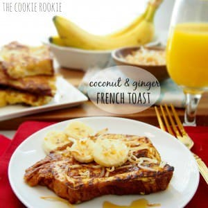 coconut & ginger french toast