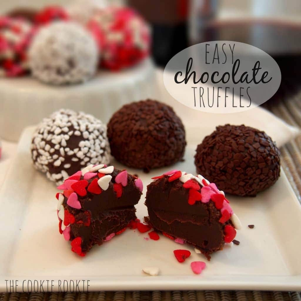 easy chocolate truffles. i love to whip these up once in a while...SO EASY.