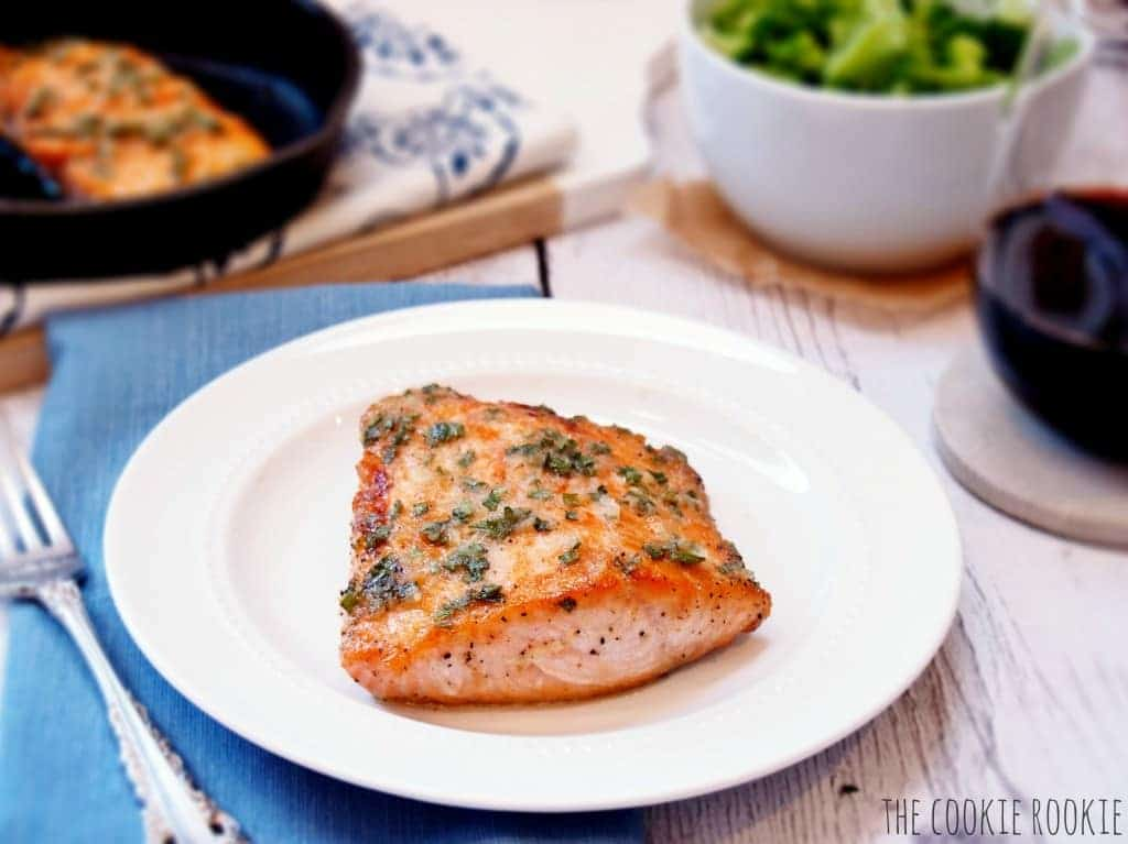 Apple & Horseradish Glazed Salmon. So healthy and so delicious!! {The Cookie Rookie}