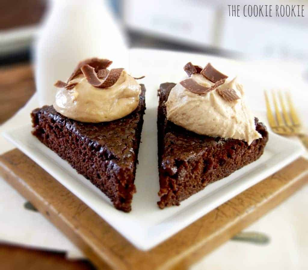 Chocolate Cake with Biscoff Icing. My favorite!! {The Cookie Rookie}
