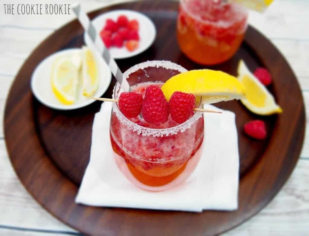 fruity drink in glass
