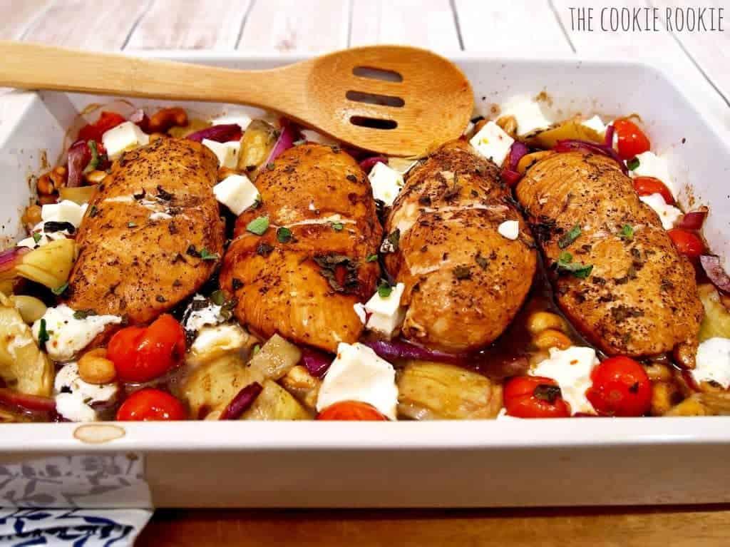 Balsamic Glazed Mediterranean Chicken Bake, EASY, healthy and ...