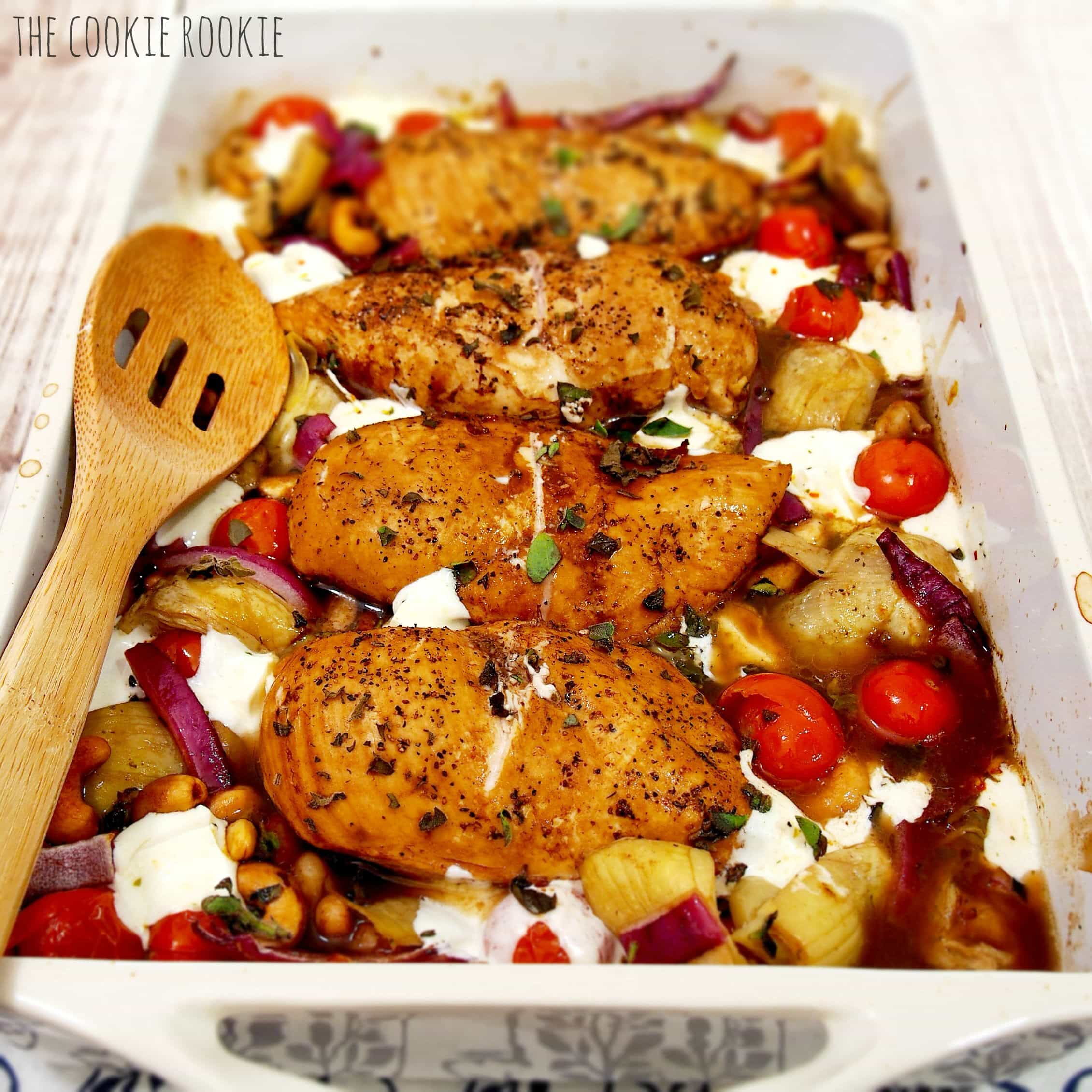 Balsamic Glazed Mediterranean Chicken Bake The Cookie Rookie