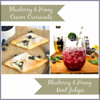 Blueberry Honey Mint Julep, a fresh take on a classic favorite! So fun {The Cookie Rookie}
