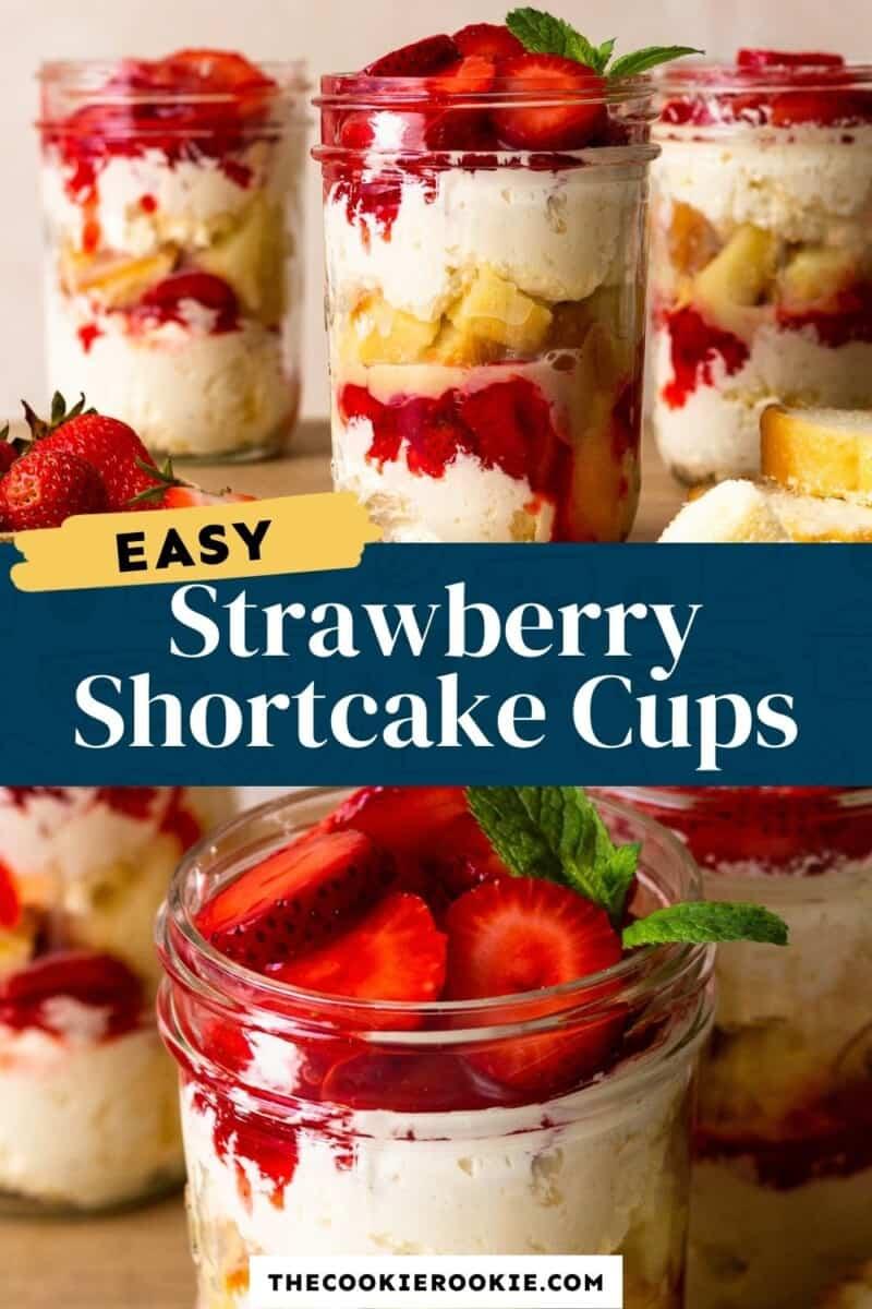 strawberry shortcake cups pinterest