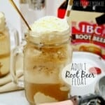 Adult Root Beer Floats! Ice cream, Vanilla Vodka, and your fave root beer. YUM! - The Cookie Rookie