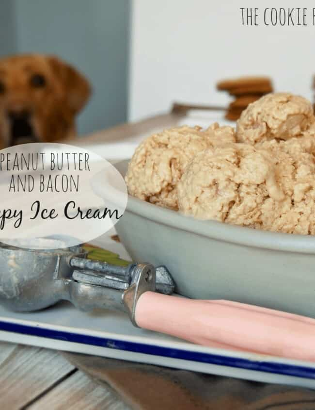 Peanut Butter Bacon Puppy Ice Cream. My dog loves this! - The Cookie Rookie