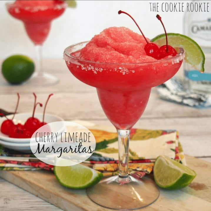 Cherry Limeade Margaritas, These are perfect for Cinco De Mayo! - The Cookie Rookie