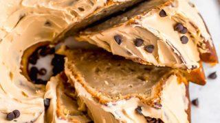 Easy Peanut Butter Banana Bundt Cake