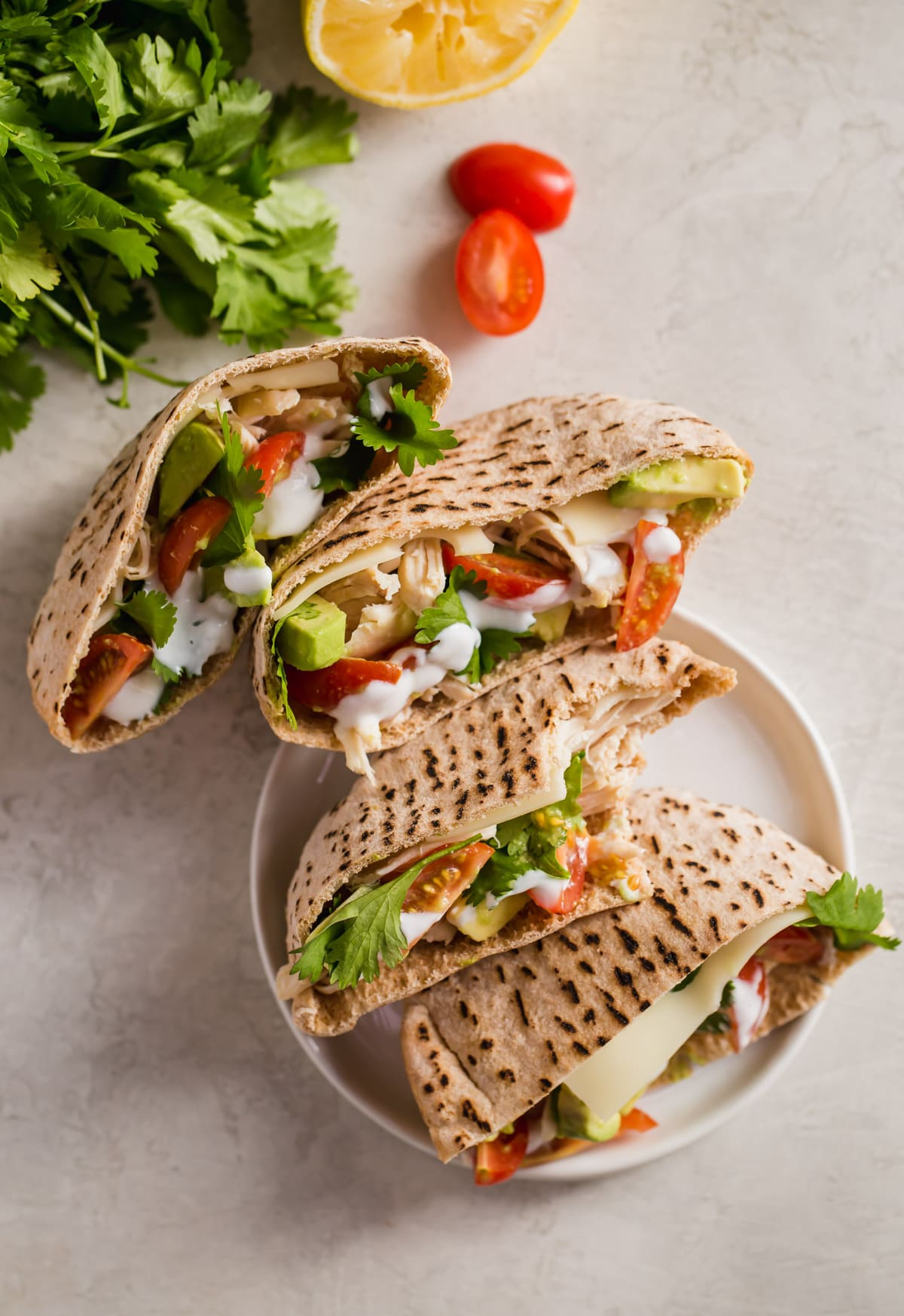 chicken avocado pita pockets
