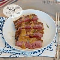 Garlic Rosemary Steak with Sherry Cream Sauce