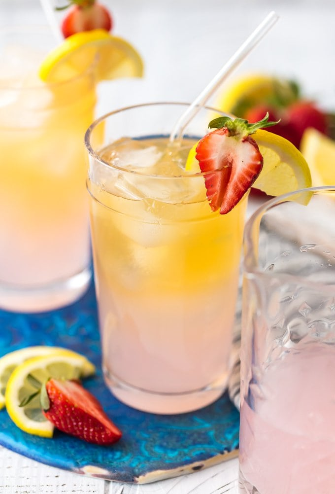 summer shandy recipe with tequila in glasses