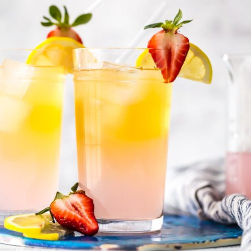 Summer Shandy Recipe with Tequila (Pink Summer Shandy) was my favorite fun cocktail in college! Made with pink lemonade, light beer, and tequila, its the perfect drink for warmer weather. There's something about tequila, beer and lemonade, that just go together. This Summer Beer is a recipe you'll make again and again.