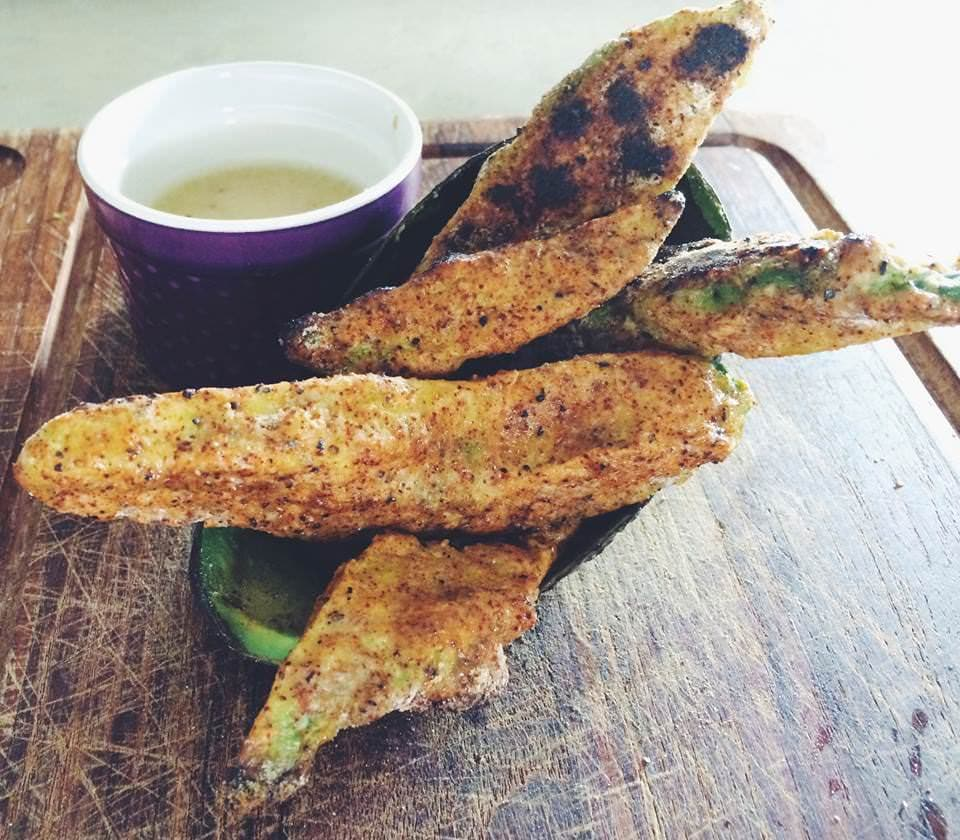 Baked Avocado Fries are the perfect guilt-less snack! Yumology for The Cookie Rookie