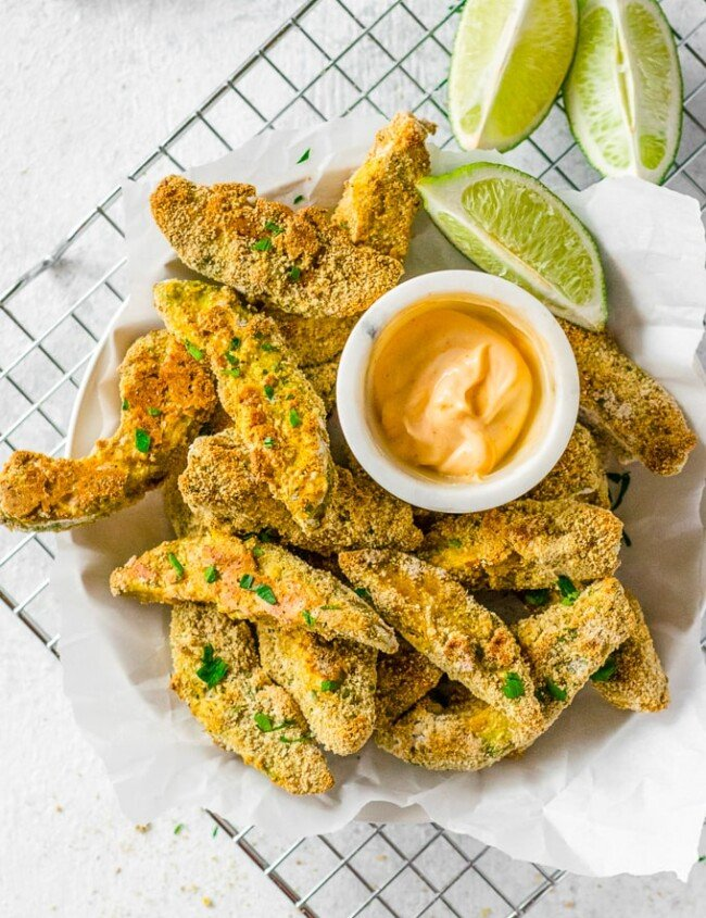 avocado fries with chipotle ranch