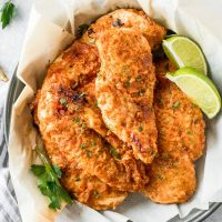 Baked Fried Chicken, or Oven Fried Chicken Breast, is so healthy, juicy, flavorful, and CRISPY! You would never guess this Baked Fried Chicken Breast is oven baked and not fried. The spice rub on this Oven Baked Fried Chicken is just like your favorite KFC Fried Chicken. SO MUCH FLAVOR! Once you try these Baked Chicken Cutlets, you'll never go back to fried chicken again.