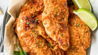 Baked Fried Chicken (Oven Fried Chicken Breast Recipe) VIDEO!