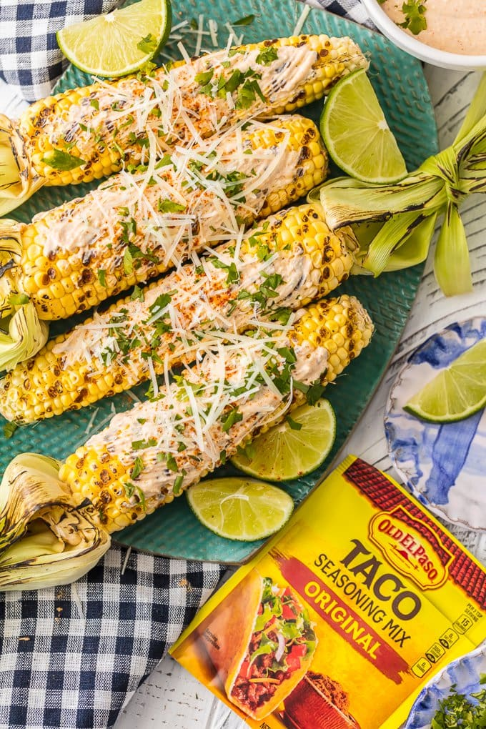 mexican corn on the cob with taco seasoning