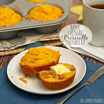 Apple Cheddar Prosciutto Cornbread. The PERFECT breakfast cornbread. Yum. - The Cookie Rookie