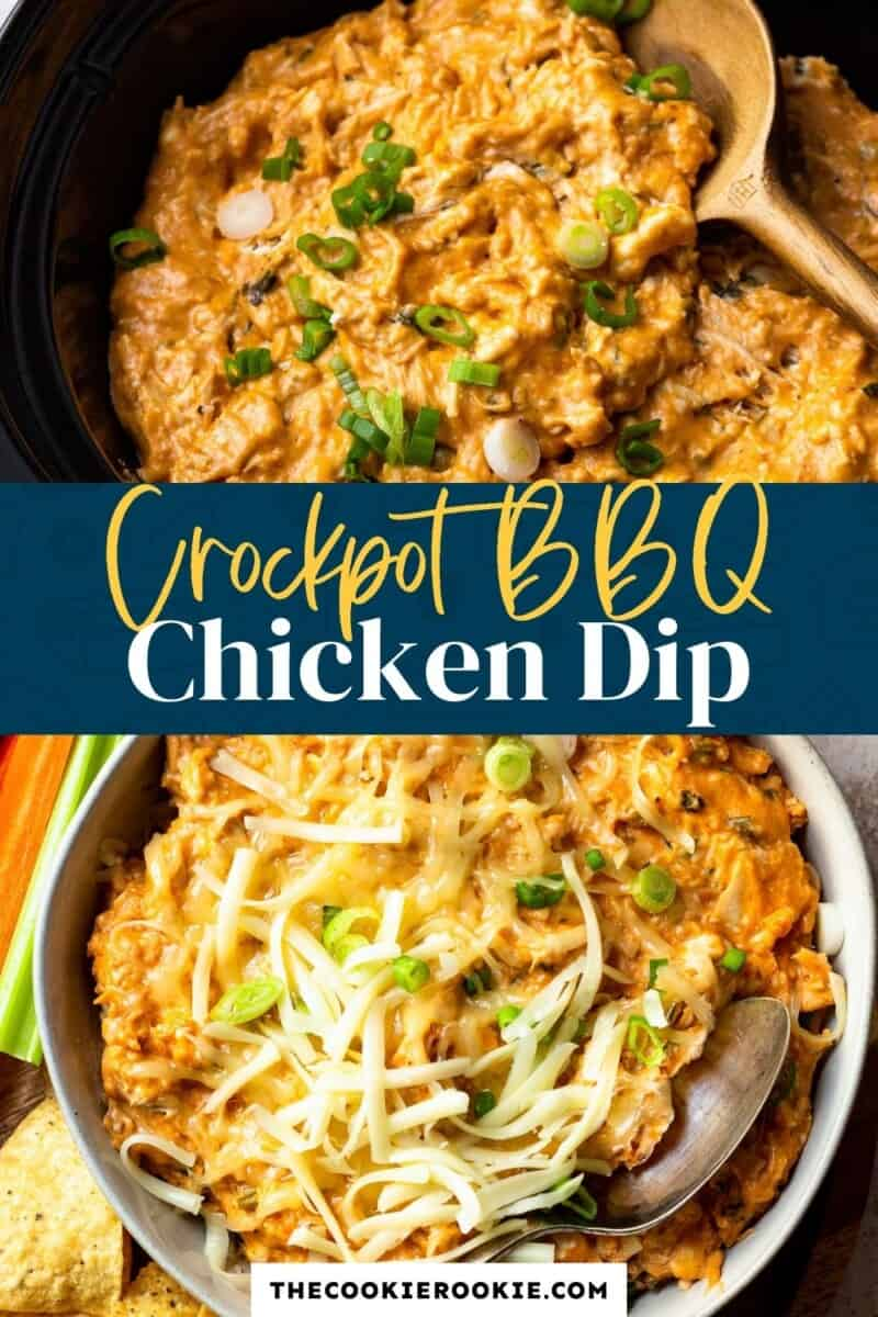 crockpot bbq chicken dip pinterest