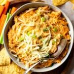 featured crockpot bbq chicken dip