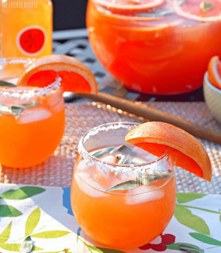 Ruby Red Grapefruit & Sage Paloma, so refreshing and fun! Perfect for summer. - The Cookie Rookie