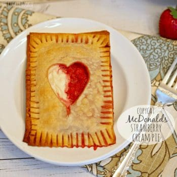Copycat McDonalds Strawberry Cream Pie. Delicious and easy baked pie!