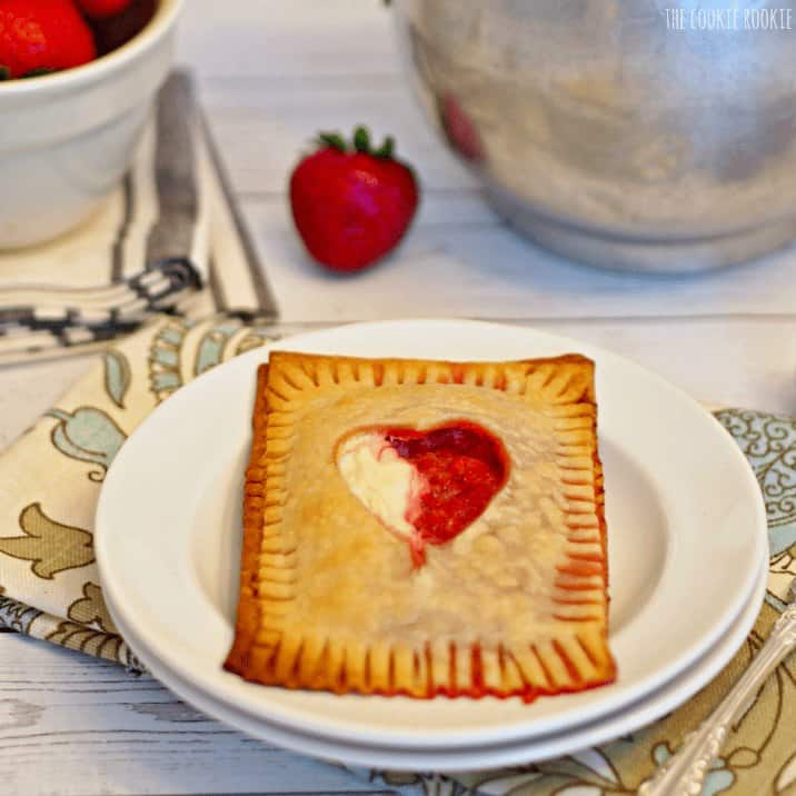 Copycat McDonalds Strawberry Cream Pie. Delicious and easy baked pie!