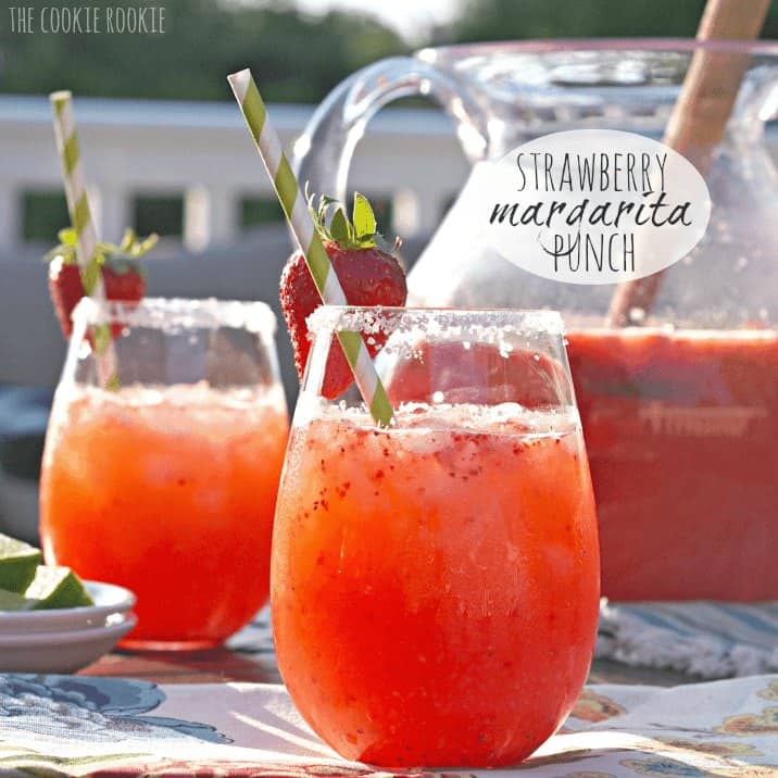 Strawberry Margarita Punch Recipe The Cookie Rookie